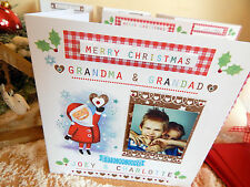 PERSONAL CHRISTMAS CARD with Photo Personalised Grandad Grandma Nana etc