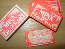 VINTAGE MINX DOUBLE EDGE SAFETY RAZOR BLADES PACK OF 10 MADE IN SHEFFIELD