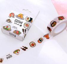 Japanese food SUSHI Theme Masking Washi Tape diary Sticky DIY Adhesive Sticker