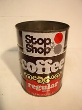 Stop and Shop Coffee Tin Can