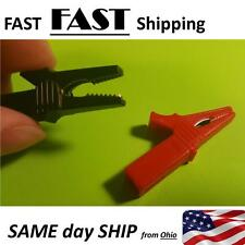 HV Alligator Clip For Banana Plug 4mm Multimeter Pen Cable Probe Red Black