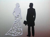 Bride & Groom Die Cuts / Wedding Invitation Stationery / Card Toppers - 5 Sets