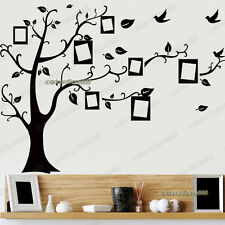 Black Photo Frame Tree Wall Stickers Transparent Reusable Art Decal Kids Nursery