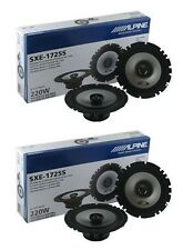 "2 PAIR ALPINE SXE-1725S 6-1/2"" 2-WAY TYPE-E 220W COAXIAL 6.5"" CAR AUDIO SPEAKERS"
