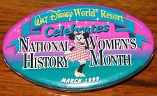 Walt Disney World Resort Celebrates National Womens History Month March 1999 Pin