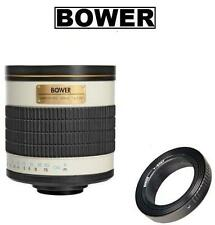 Bower 500mm f/6.3 Telephoto Mirror Lens for Sony A580 A560 A99 A77 A65 A58 A35