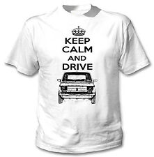 POLISH MALUCH RED FIAT 126P INSPIRED KEEP CALM AND DRIVE P - WHITE COTTON TSHIRT