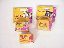 Vintage 2-KODAK 200 & 1-100 35mm color print film 12& 24 exp. Total 3 rolls
