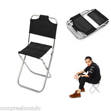 Portable Folding Chair Outdoor Fishing Camping Chair with Backrest Carry Bag