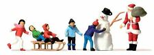 PREISER HO SCALE 1/87 SANTA WITH CHILDREN & SNOWMAN | BN | 10626