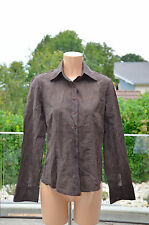 MARLBORO CLASSICS -Très jolie chemise marron  - taille S - EXCELLENT ÉTAT