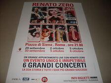 """RENATO ZERO - LOCANDINA TOUR """" PIAZZA DI SIENA ROMA """"     33 x 47"""