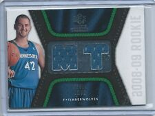 2008-09 SP Rookie Threads Kevin Love Blue Rookie Jersey Card