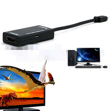 Black MHL Micro USB to HDMI AV TV Adapter Cable for LG HTC Sony Samsung HDTV PAT