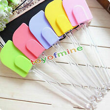 Silicone Spatula Baking Butter Scraper Cooking Cake Kitchen Utensils Random 624B