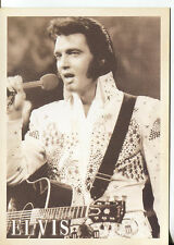 POST CARD OF ELVIS PRESLEY IN CONCERT ALOHA FROM HAWAII VIA SATELLITE 1/14/1973