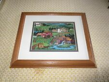 """Framed, Double Matted WYSOCKI COUNTRY LANDSCAPE & COMMUNITY Print - 9.5"""" x 11.5"""""""