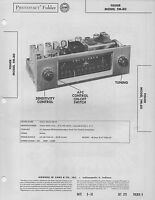 1955 THE FISHER FM-80 RADIO SERVICE MANUAL PHOTOFACT SCHEMATIC TUBE REPAIR FIX