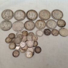 British Pre 1920 Silver 0.925 Sterling Silver Coins Better Than Scrap No Reserve
