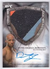 2014 UFC Bloodlines Demetrious Johnson Auto Autograph Fight Mat Relic #06/25