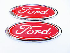 Red Ford Oval Badge Mondeo / Cortina / Fiesta / Focus ETC .Brand New X2