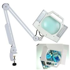 5X Desk Table Clamp Mount Magnifier Lamp Light Magnifying Glass Lens Diopte