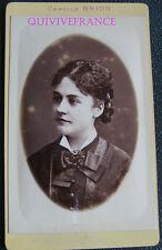 PCV550 - photo CDV FEMME - 1880 - nommée - par Camille BRON à Marseille