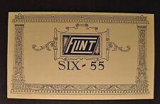 1925 Flint Six 55 Closed Cars Sales Brochure Folder Excellent Original 25