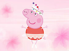PEPPA PIG PERSONALISED EDIBLE ICING CAKE IMAGE DECORATION TOPPER