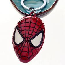 Comic Superhero Spider Man Mask Red Metal Keychain Gift Key Ring Chain