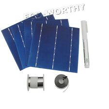 DIY 160W Solar Panel 40 pcs 6x6 Solar Cells with Flux Pen,Tabbing+Bus Wire Hobby