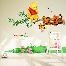 WINNIE THE POOH Bear Vinyl Wall Decals Sticker Decor Kid Nursery Room Decor UKLX