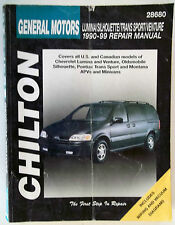 90-99 Chilton General Motors Lumina Silhoutte Trans Sport Venture Repair Manual