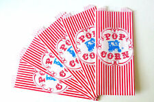 100 Retro Popcorn Bags | Circus Birthday Carnival Party | Red Gusseted Paper Bag