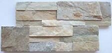 Musterstück der Natursteinriemchen Wandverblender beige Klinker 18x35cm