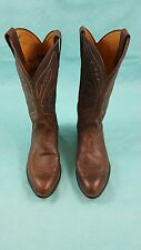Tony Lama boots 9.5 ee Style 6469 brown leather  cowboy boots  Nocona Justin