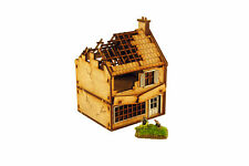 WW2 SMALL SHOP DESTROYED 15mm Building Terrain Flames of War N506