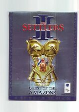 THE SETTLERS III 3 : QUEST OF THE AMAZONS - PC GAME EXPANSION - ORIGINAL BIG BOX