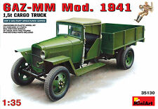 MiniArt WWII Russian GAZ-MM Mod.1941 1.5t CARGO TRUCK + 2 Figures model kit 1/35