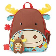 Skip Hop Zoo Moose Backpack Winter Special Set With Plush Toy Toddler Kids Leaf