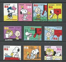 ˳˳ ҉ ˳˳G89 Japan Greeting Snoopy & Friends 2014 used complete set manga Japon 日本