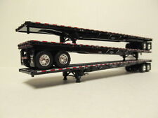 3  DCP 1/64 SCALE  ROAD  BRUTE  FLATBED  TRAILERS  BLACK DECK WITH BLACK FRAME
