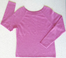 Charter Club Sweater M Pink 2-Ply 100% Cashmere Scoopneck Pullover Jumper