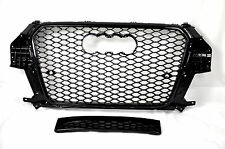 FRONT GRILL Look RSQ3 BLACK FOR AUDI Q3 8U 2011-14 Wabengrill Grille Stoßstange