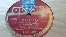 CHARLES FRIANT WERTHER LORSQUE L'ENFANT & J'AURAIS SUR MA POITRINE ODEON 188.502