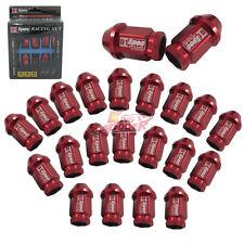D1-SPEC M12X1.5 40MM HONDA ACURA JDM RED WHEEL LUG NUT 20PCS CIVIC INTEGRA NEW