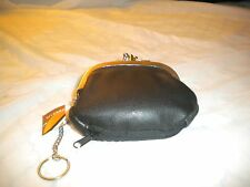 BRAND NEW DOUBLE CHANGE PURSE WITH MANY COMPARTMENTS BLACK COLOR AVAILABLE