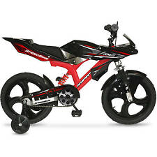 Dirt Bikes BMX For Boys 16 Inch Kids With Training Wheels Mag Wheels Bicycle Red