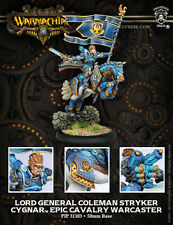 Warmachine BNIB - Cygnar Epic Cavalry Warcaster Lord General Colemen Stryker