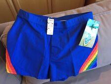 "OCEAN PACIFIC ""OP"" Rare Vintage Sz 30 waist Rainbow Board Shorts w/original tags"